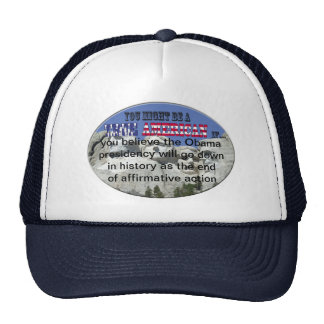 obama affirmative action trucker hats