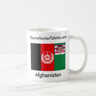 Obama / Afghanistan uniting in harmony Classic White Coffee Mug