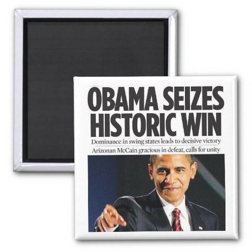 Obama agarra el imán histórico del triunfo