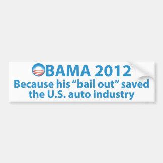 Obama ahorró la industria automotriz pegatina de parachoque