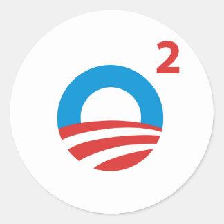 Obama ajustó pegatina redonda
