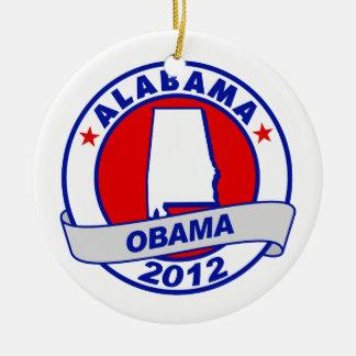 Obama - Alabama Christmas Ornament