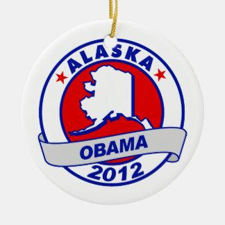 Obama - alaska christmas tree ornament