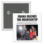 Obama alcanza el botón de la cima de la montaña pin