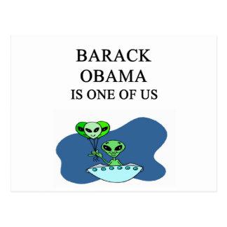 OBAMA, alien joke Postcard