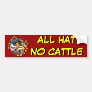 Obama All Hat No Cattle Bumper Sticker