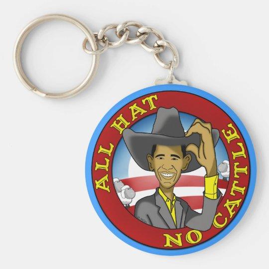 Obama All Hat No Cattle Keychain