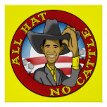 Obama All Hat No Cattle Poster