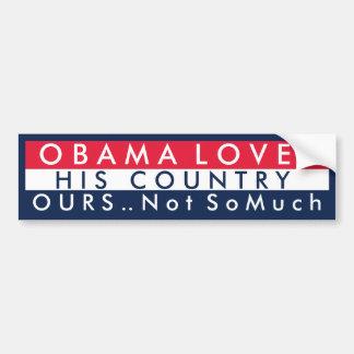 Obama ama su país pegatina de parachoque