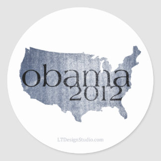 Obama América 2012 - pegatinas Etiqueta Redonda