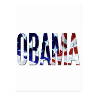 Obama America Flag Postcard