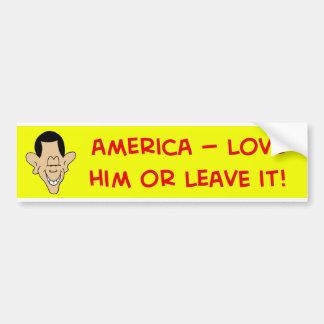 obama América lo ama o lo deja Etiqueta De Parachoque