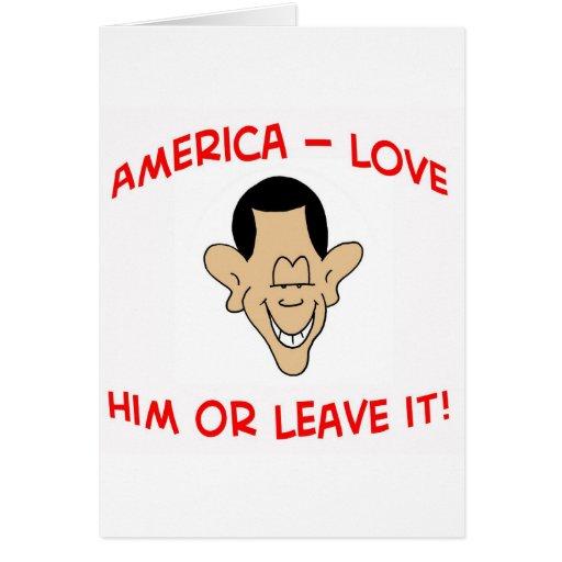 obama América lo ama o lo deja Tarjeta