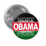 Obama -- American Hope, Kenyan Pride Pinback Button