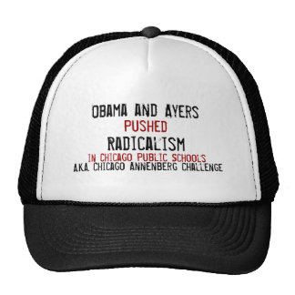 Obama and Ayers, Pushed, Radicalism, in Chicago... Mesh Hat