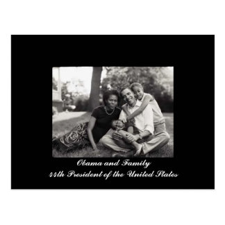 Obama and Family 44th President of the USA Postcard