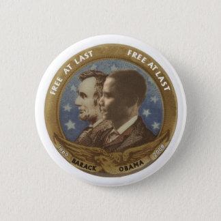 Obama and Lincoln Button