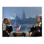 Obama and Medvedev Postcard