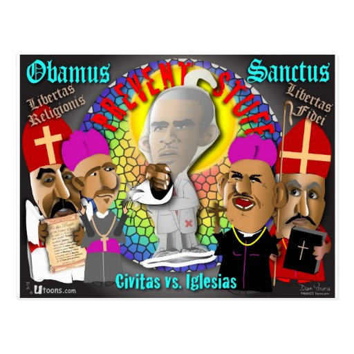 Obama and The Bishops Post Cards
