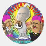 Obama and The Bishops Round Sticker
