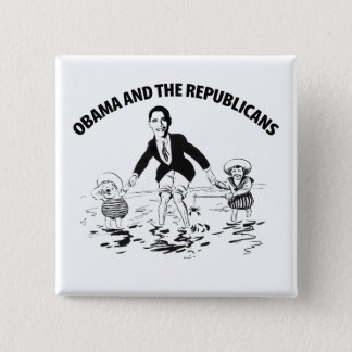 Obama and the Republicans Button