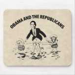 Obama and the Republicans Mouse Pad