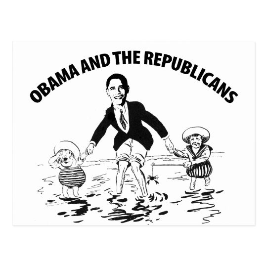 Obama and the Republicans Postcard