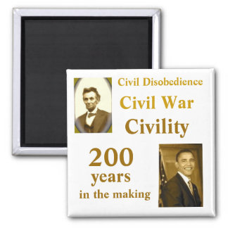 Obama  and USA History 2 Inch Square Magnet