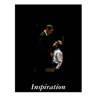 Obama and young boy postcards