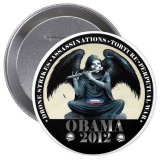 Obama: Ángel de la muerte Pin Redondo De 4 Pulgadas