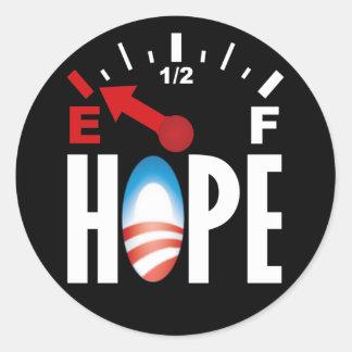 Obama anti 2012 - fuera de la esperanza etiqueta redonda