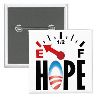 Obama anti 2012 - fuera de la esperanza pin cuadrada 5 cm