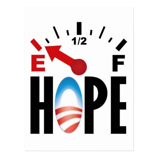 Obama anti 2012 - fuera de la esperanza tarjetas postales