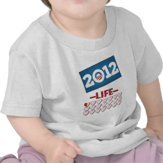 Obama anti 2012 ninguna vida camiseta