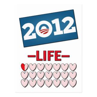 Obama anti 2012 ninguna vida postales