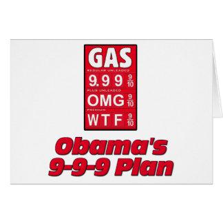 Obama anti: 999 altos precios de la gasolina del p tarjeta de felicitación
