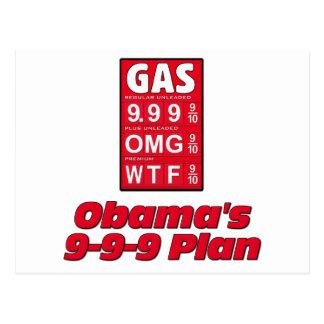 Obama anti: 999 altos precios de la gasolina del postales