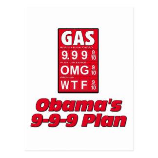Obama anti: 999 altos precios de la gasolina del tarjetas postales