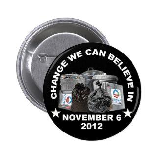 Obama anti - cambíenos puede creer adentro pin redondo 5 cm