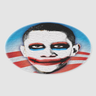 Obama anti - comodín - sello pegatina ovalada