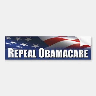Obama anti - derogación OBAMACARE Pegatina Para Auto