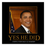 Obama anti él hizo sí el poster de Demotivational