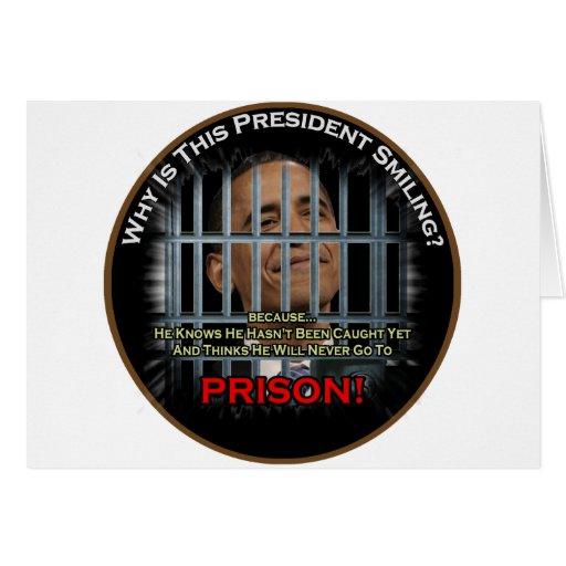 Obama anti en la prisión tarjeton