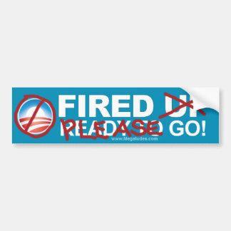 ¡Obama anti - encendido - va por favor! Pegatina Para Auto