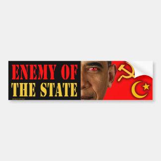 """Obama anti """"enemigo pegatina para el parachoques d pegatina para auto"""
