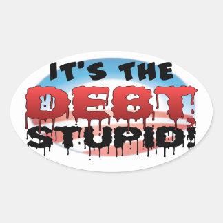 Obama anti - es el DEB estúpido Pegatina Ovalada