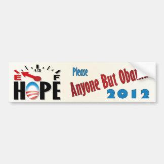 Obama anti - esperanza vacía pegatina para auto