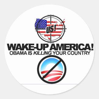 Obama anti extremo bromea el pegatina 01