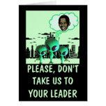 Obama anti hilarante tarjeta de felicitación
