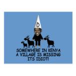 Obama anti, idiota del pueblo tarjetas postales